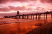 Lamp Post Prints - A Pier Print by Con Tanasiuk