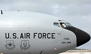Guam Prints - A Pilot Waves Farewell From A Kc-135r Print by Stocktrek Images