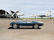 Corvette Paintings - A Pilots Dream by Richard Herron