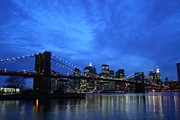 Nyc Rooftop Prints - A Place Just Over The Brooklyn Bridge Print by Matthew Breslow