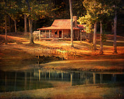 Log Cabin Framed Prints - A Place To Dream Framed Print by Jai Johnson