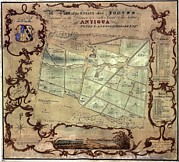 Colonization Prints - A Plan Of An English Colonists Estate Print by Everett