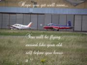 Toy Boat Framed Prints - A Plane Get Well Message Framed Print by Dawn Hay