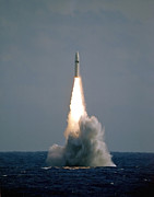 Firing Art - A Polaris A3 Fleet Ballistic Missile by Stocktrek Images