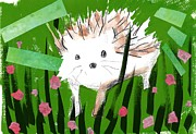 Looking At Camera Digital Art - A Porcupine by Mamiko Ohashi