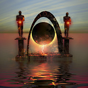 Portal Framed Prints - A Portal To Another Dimensional World Framed Print by Corey Ford