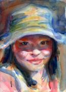 Watercolour Paintings - A Portrait A Day 18 - Angel Zhang by Yevgenia Watts