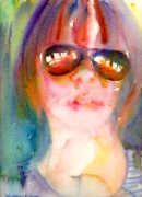 Wet Into Wet Watercolor Prints - A Portrait A Day 33 - Magdalena Print by Yevgenia Watts