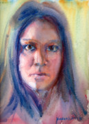 Watercolour Paintings - A Portrait A Day 42 - Elizabeth by Yevgenia Watts
