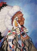 A Portrait Of 95-year Old Sioux Chief Print by W. Langdon Kihn