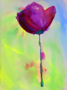 Flower Photographs Painting Prints - A Purple Flower Print by Julie Lueders