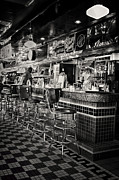 Old Diner Bar Stools Prints - A Quarter To Three... Print by Boyd Alexander