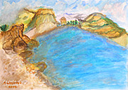 Landscapes - A Quiet Beach by Augusta Stylianou