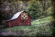 Christine Annas Metal Prints - A Quilt Barn Metal Print by Christine Annas