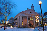 Quincy Market Photos - A Quincy Winter by Joann Vitali