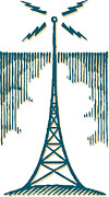 Communications Tower Posters - A Radio Tower Poster by Ken Jacobsen