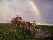 Russia Paintings - A Rainbow by Pg Reproductions