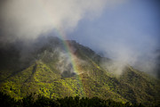 Tropical Oceans Art - A Rainbow Shines Over The Rugged by Taylor S. Kennedy