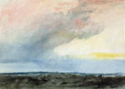 Water-colour Prints - A Rainstorm at Sea Print by Joseph Mallord William Turner