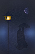 A Rainy Night Print by Tom York Images