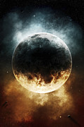 Cataclysm Prints - A Rare Planet Surrounded By A Cloud Print by Tomasz Dabrowski
