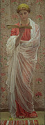 Pre-raphaelites Painting Framed Prints - A Reader Framed Print by Albert Joseph Moore