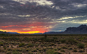 The Superstitions Photos - A Red Sunrise  by Saija  Lehtonen