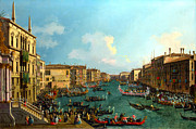 Betrothal Prints - A Regatta on the Grand Canal by Canaletto Print by Pg Reproductions