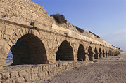 Continental Architecture And Art Prints - A Relatively Intact Roman Aqueduct Print by Nick Caloyianis