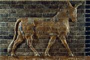 Ishtar Prints - A Relief Depicts A Bull Print by Lynn Abercrombie