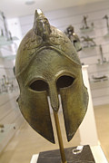 Greek Warrior Art - A Replica Of An Ancient Greek Helmet by Richard Nowitz