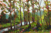 Woods Pastels - A River Runs Through It by Mary McInnis