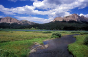 Landscape Framed Prints Prints - A River Runs Through Wyoming Print by Kathy Yates