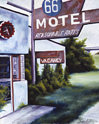 Motel Painting Prints - A Road Less Traveled Print by James Christopher Hill