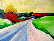Lisa Dionne Art - A Road Up North by Lisa Dionne