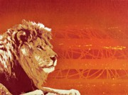 Spray Paint Mixed Media Posters - A Roaring Lion Kills No Game Poster by Iosua Tai Taeoalii