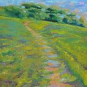 Plain Air Paintings - A Rolling Hill by Toshihide Takekoshi
