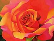 Orange Metal Prints - A Rose - Transformation into the Sun Metal Print by Myung-Bo Sim