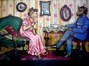 Anthropomorphic Paintings - A Sad Story by June Ponte