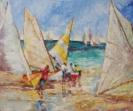 West Indies Paintings - A Sail to Remember by Susan Mains