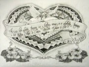 Scripture Drawings - A Samoan Blessing by Kristy Mao