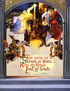 Manger Mixed Media Posters - A Savior is Born Poster by Chuck Hamrick