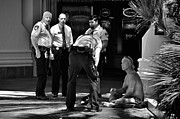 Homeless Man Prints - A scene in Las Vegas Print by RicardMN Photography