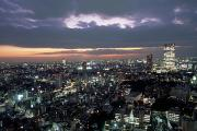 Worldly Abundance Prints - A Scene Of The Tokyo Skyline Print by Justin Guariglia