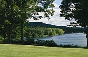 Otsego Lake Posters - A Scenic View Of Otsego Lake Poster by Raymond Gehman