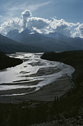 River Scenes Photos - A Scenic View Of The Matanuska River by George F. Herben