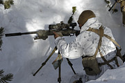 Trench Warfare Posters - A Scout Sniper Prepares His Shot Poster by Stocktrek Images