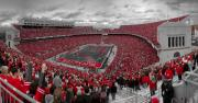 Football Prints - A Sea Of Scarlet Print by Kenneth Krolikowski