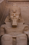 Beards Prints - A Seated Ramses Ii At Abu Simbel Temple Print by Taylor S. Kennedy