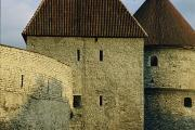 Balkan And Slavic Architecture And Art Prints - A Section Of Wall Around Tallinn, Built Print by Sisse Brimberg